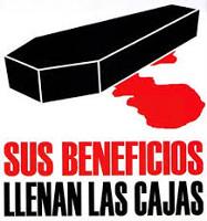 Kampagnenplakat der CGT in Spanien gegen tödliche Arbeitsunfälle seit Juni 2015