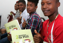 Frieden ist Thema beim Ölarbeiterkongress in Kolumbien November 2015