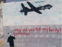 Graffiti in Sanaa: Why did you kill my familiy?