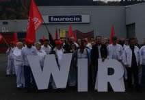Neuerliche Standortverhandlungen - und Protestaktionen - bei Faurecia in Scheuerfeld