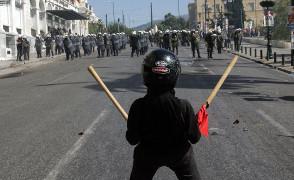 Protest in Athen am Jahrestag des Aufstands gegen die Militärdiktatur im November 2015