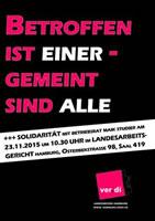 HUK-Coburg Hamburg: Kündigungsverfahren gegen Betriebsrat | Betroffen ist einer - gemeint sind alle (ver.di HH)