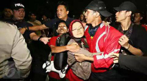 Festnahmen in Jakarta wg Mindestlohndemo November 2015