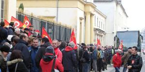 CGT Demo Südfrankreich trotz Polizeiverbot - 24.11.2015