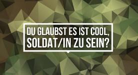 Du glaubst, es ist cool, Soldat/in zu sein? Ad-Busting vom Peng!-Kollektiv, November 2015