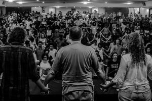 Die neueste Protestversammlung in Mariana - nachdem die Regierung beschlossen hat, bei der Schlammlawine vom 5.11.2015 handele es sich um eine Naturkatastrophe