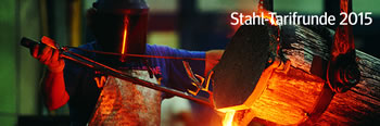 Stahl-Tarifrunde 2015 der IG Metall