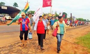 Die LandarbeiterInnen in Paraguay beteiligten sich massiv am Generalstreik am 22.12.2015