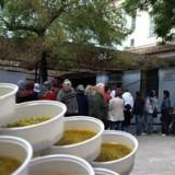 Hungerschlange in Athen im Dezember 2015 - EU will auch soziales Notprogramm verhindern