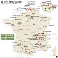 Karte der Armut: Frankreich, 2015