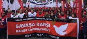 Gewerkschaftliche Antikriegsdemo Istanbul 28.12.2015