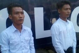 Arbeiteraktivisten in Myanmar (Dezember 2015)
