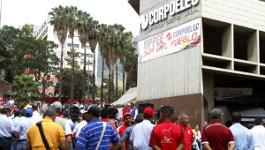 Arbeiterprotest nach den Wahlen in Venezuela (Dezember 2015)