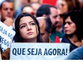 Veränderungen jetzt wurden auf Demonstrationen in ganz Portugal am 28.11.2015 gefordert