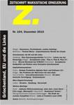 Z. Zeitschrift Marxistische Erneuerung  Nr. 104 Dezember 2015