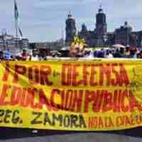 Protest der CNTE (Mexiko, Dezember 2015)