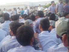 Maruti-Suzuki: protest gegen Leiharbeit (Indien, Dezember 2015)