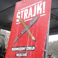 Streikplakat Lehrer Slowakei Januar 2016