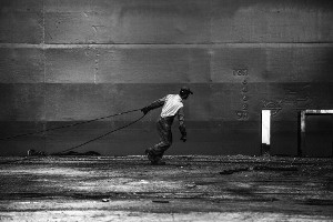 Die Hafenarbeiter von Piräus feiern 1 Jahr Syriza-Regierung nicht mit 25.1.2016