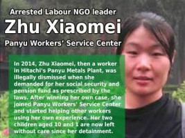 Soliplakat Südchinesische Aktivistin Dezember 2015