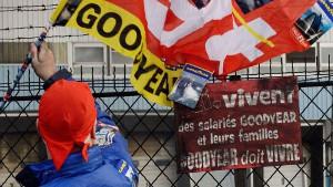 Frankreich: Demonstration CGT Goodyear im Januar 2014