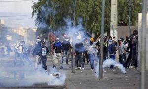 Strassenprotest Tunis 22.1.2016