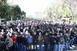 PAME DEmonstration gegen Rentenreform am 8.1.2016 in Athen