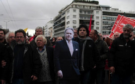 Demonstration gegen Rentenreform in Athen 16.1.2016