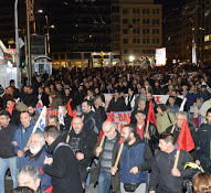 Protestdemo Athen Januar 2016