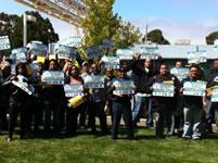 BAYER-Werk Berkeley: Belegschaft erkämpft verbesserten Tarifvertrag. Aktionstag in Berkeley am 17. August 2011