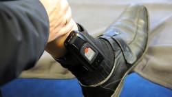 Protestziel - unter vielen anderen: Fußfessel