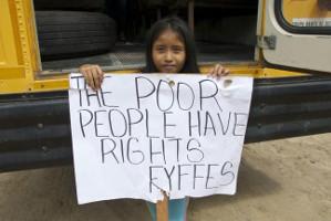 Kinderprotest gegen Plantagenschliessung in Belize Januar 2016