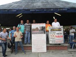 Am 100. Streiktag bei Goodyear Kolumbien der Erfolg: 21.1.2016