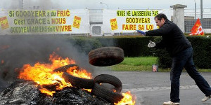 Blockade bei Goodyear Amiens September 2012