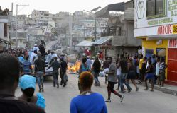 Protestdemo Haiti gegen Wahlfarce 20.1.2016