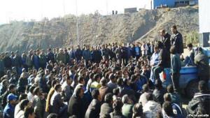 Streik iranischer Bergarbeiter September 2014 - jetzt im Januar 2016 soll ihnen der Prozess gemacht werden
