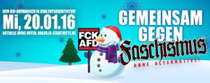 Jena, 20.1. 2016: Gemeinsam gegen die AfD