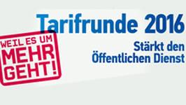 Tarifrunde Bund und Kommunen 2016