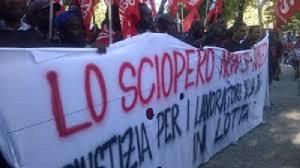 SI Cobas Protest nach dem Polizeiüberfall am Gardasee 9.1.2016