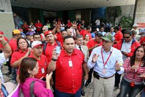 Metro Caracas Demo gegen Privatisierungsgerüchte 2.1.16