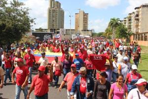 Gewerkschaftsübergreifende Demo gegen die Rechte Dezember 2015