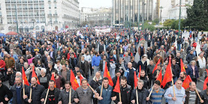 Griechenland: PAME Demonstration gegen Rentenklau in Athen am 4.2.2016