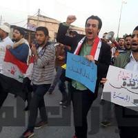 Erwerbslosendemonstration im irakischen Basra gegen Milizen am 4.2.2016
