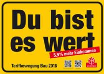 Tarifrunde 2016 im Bauhauptgewerbe: IG BAU fordert ein Plus von 5,9 Prozent für Bauarbeiter