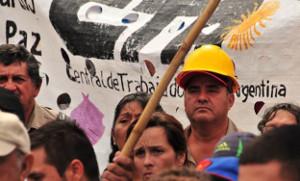 Generalstreikdemo in Buenos Aires am 24.2.2016