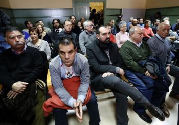 Die airbus 8 kurz vor der Urteilsverkündung am 17.2.2016 in Madrid