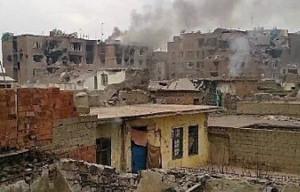 Nach 83 Tagen Ausgangssperre,Belagerung und Beschuss: Sur/Diyarbakir in Trümmern (Türkei, Februar 2016)