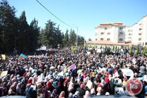 Lehrerprotest in Ramallah - gegen Gewerkschaft und Rehierung am 15.2.2016