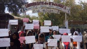 Demonstration gegen Vergewaltigung durch Ministersohn an der Uni Ndjamena am 19.2.2016