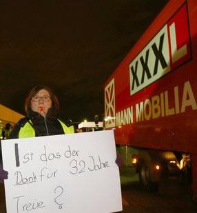 99 Beschäftigte bei XXXL-Mann Mobilia in Mannheim freigestellt, Foto: ver.di Rhein-Neckar